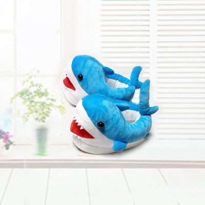 Kids Unicorn & Shark Plush Slippers