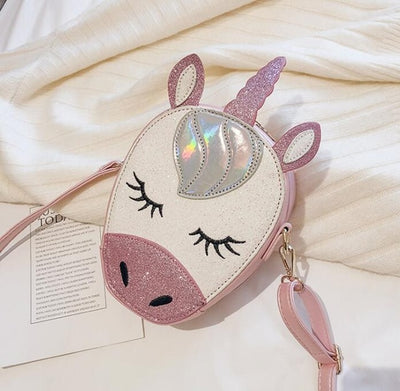 Unicorn PU Leather Crossbody Bag