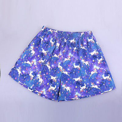 Unicorn Pajama Plus Size Shorts