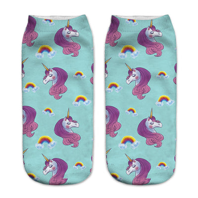 19 Styles Cute Unicorn Print Ankle Socks - Well Pick Review