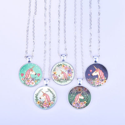 Set Unicorn Pendant Necklace