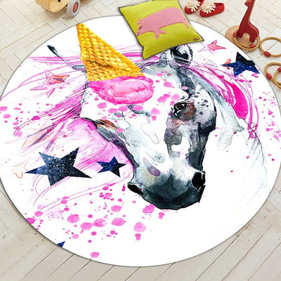 Cute Unicorn Round Rug - Well Pick Review