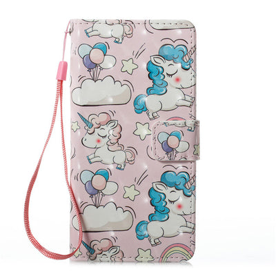 Unicorn Leather Flip Phone Case