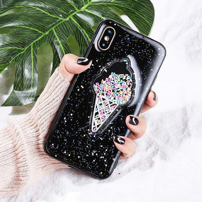 Ice Cream Glitter For iphoneX