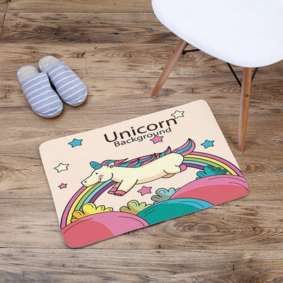 Cartoon Unicorn Doormat - Collections - Well Pick Review