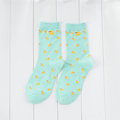 Cartoon Duck Pattern Short Socks