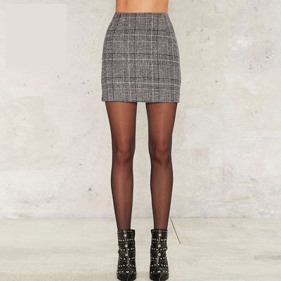 Plaid Mini Short Skirt