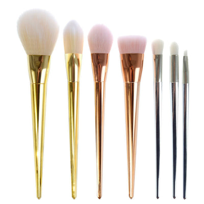 6-7pcs Rose Gold Silver Cosmetic Brush Kits - Well Pick Review