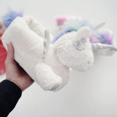White Unicorn Home Slippers