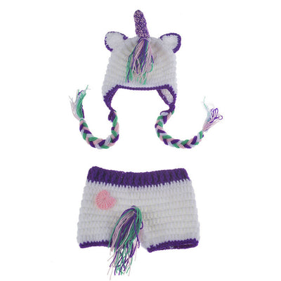 Unicorn Newborn Baby Hat & Pants