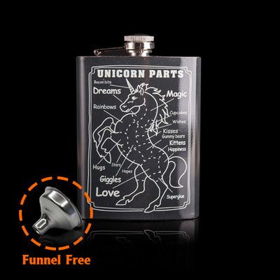 8oz Black Unicorn Hip Flask - Well Pick Review