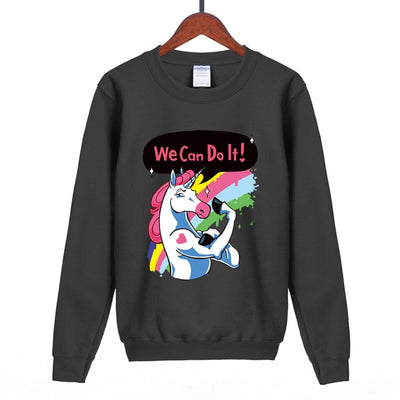 """We Can Do It"" Unicorn Sweatshirt - Well Pick Review"