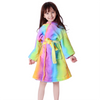 Kids Rainbow Unicorn Hooded Bathrobe