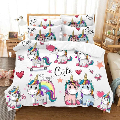 Cute Magic Unicorn Bedding Set