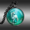 White Unicorn Pendant Necklace