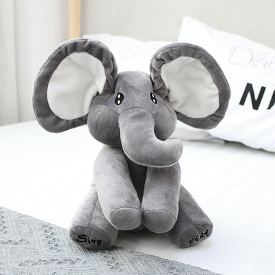 Baby Elephant With Music Plush Toy