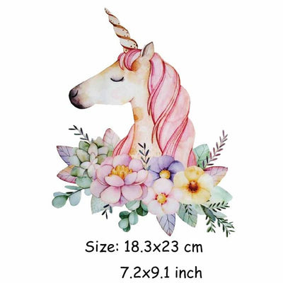 Unicorn Patch Heat Transfer DIY Craft