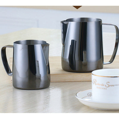 Iridescent Black Blue Stainless Steel Coffee Milk Jug