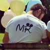 Mr Mrs Printed Graphic Couple Tees