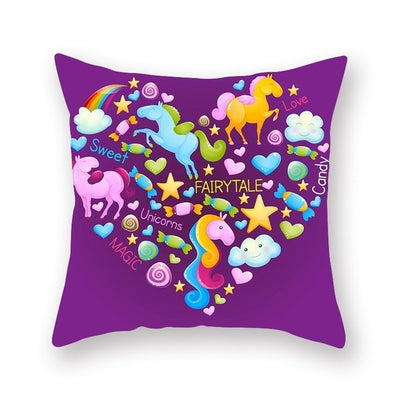 Magical Unicorn Pillow Cover