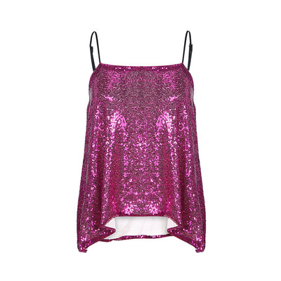 Glitter Mermaid Sequin Tank Tops