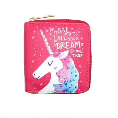 Pink Purple Red Unicorn Dreams Clutch Wallet