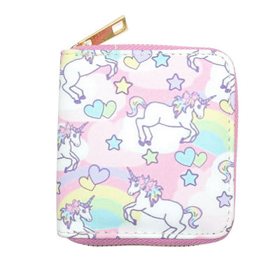 Pink Fairy Unicorn Clutch Wallet