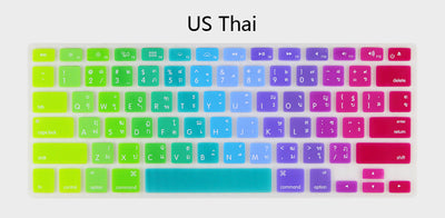12 Languages Rainbow Silicone Macbook Keyboard Cover - Well Pick Review