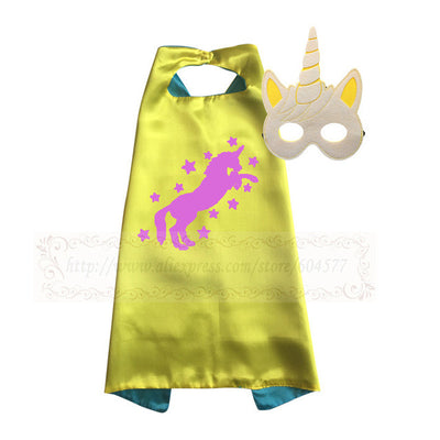 Unicorn Capes with Masks Party Cosplay Costume