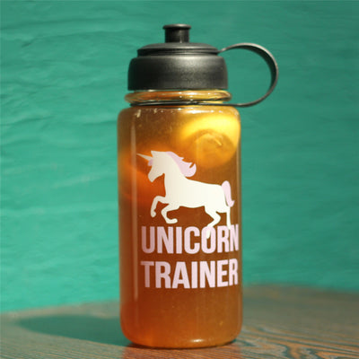 Unicorn & Quote Print Detox Water Glass Bottle