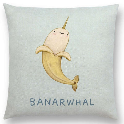 Unicorn & Animals Funny Nickname Cushion Cover
