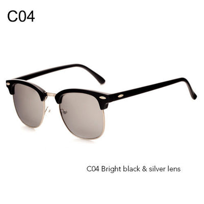 Retro Design Half Frame Designer Glasses & Clubmaster Sunglasses