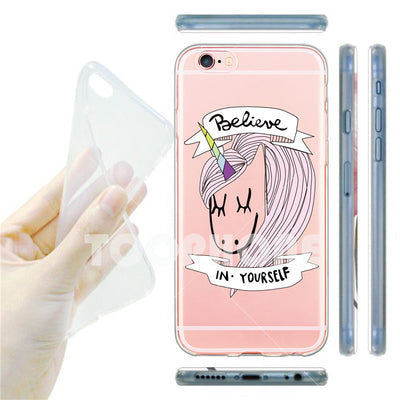 'Rainbow Unicorns' Transparent Silicone iPhone Case - Well Pick Review