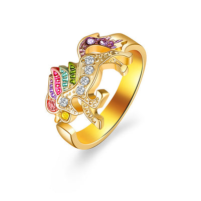 Re-sizable Shinning Unicorn Ring