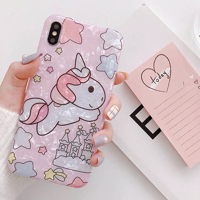 Shinning Star Unicorn iPhone Case