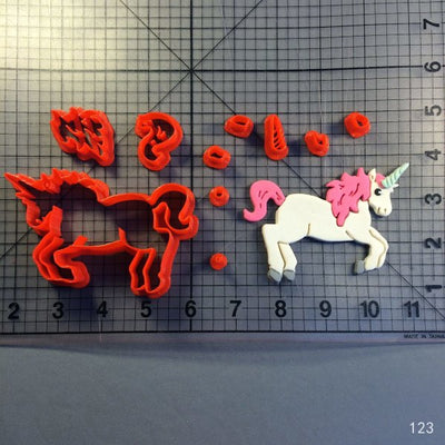 Unicorn Cookie Cutter Tool Set