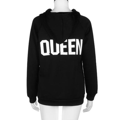 Black Queen King Letter Print Couple Hoodies - Well Pick Review