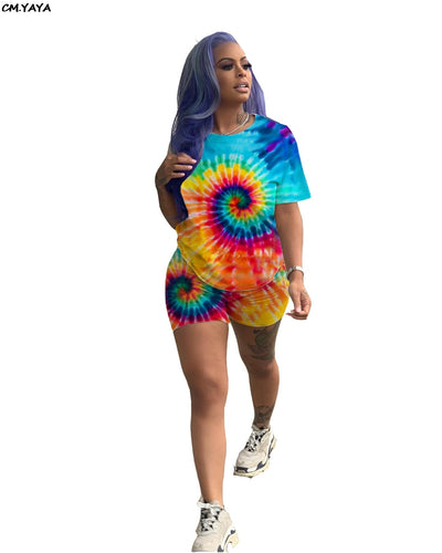 Tie-Dye Printed Short/T-shirt Set