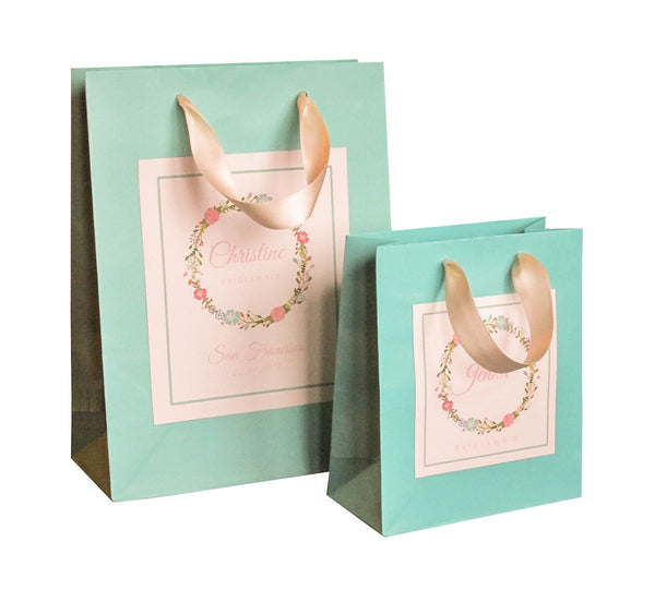 Personalized bridesmaid gift bags