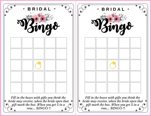 free printable bridal shower bingo by dressyourgift