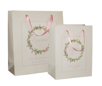 pink bridesmaid gift bags