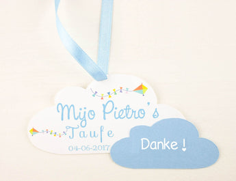 Set of 10 Baby Shower Favor tags for boy
