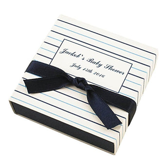 Set of 10 Baby Shower Favor Box for boys with name