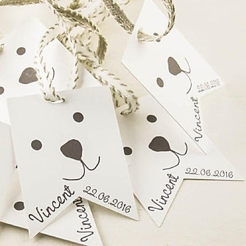 Set of 10 Baby Shower favor tags for boys and girls
