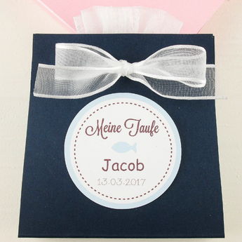 Set of 10 Baby Shower Baby boy Favor Organza bag