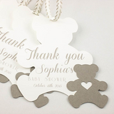 Set of 10 bears Baptism bear favor tags