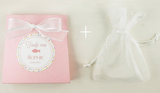 Set of 10 Baby Shower Favor Bags for girl with organza bag