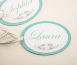 SET of Maid of Honor Gift Tags Bridesmaid Gift Tags aquamarine Customizable Gift Tags