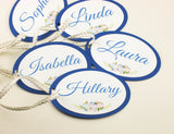SET of Royal Blue Bridesmaid Tag Maid of Honor Tags Customizable Gift Tags Birthday Tags