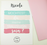 Pink Bridal Shower invites, Bridesmaids cards Will you be my ... Maid of Honor proposal